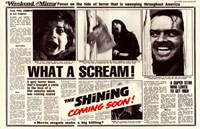 The Shining - news paper Fine-Art Print