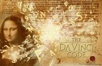 The Da Vinci Code Mona Lisa Text Fine-Art Print