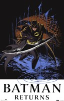 Batman Returns Comic Throwing Blade Fine-Art Print