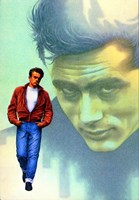 Rebel Without a Cause Jame Dean Graphic Fine-Art Print