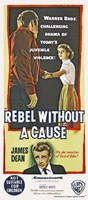 Rebel Without a Cause Vertical Teenage Violence Fine-Art Print