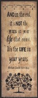 The Years in Your Life Fine-Art Print