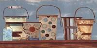 Vintage Beach Pails I Fine-Art Print