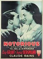 Notorious Cary Grant Ingrid Bergmann Fine-Art Print