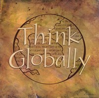 Think Globally Fine-Art Print