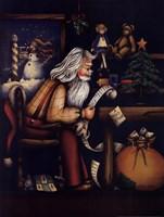 Checking His List Fine-Art Print