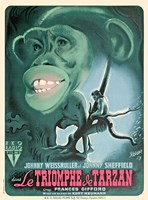 Tarzan Triumphs - French, c.1943 Fine-Art Print