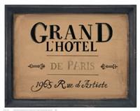 Grand l'Hotel Fine-Art Print