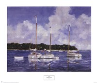 Moored Cat Boats Fine-Art Print