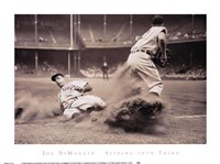 Joe DiMaggio Sliding Into Third Fine-Art Print