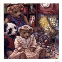 Buttons N' Bears Framed Print