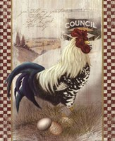 Checkered Past Rooster Fine-Art Print