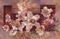 Floral sur la Rouge Fine-Art Print