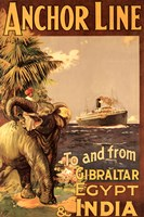 Gibraltar and India II Fine-Art Print