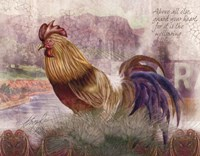 Blue Tail Rooster Fine-Art Print