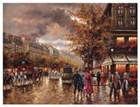 Vintage Street Scene Fine-Art Print