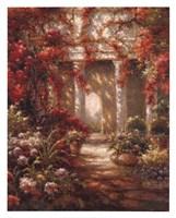Crimson Courtyard Fine-Art Print