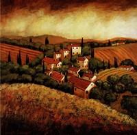 Tuscan Hillside Village Fine-Art Print