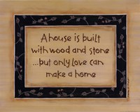 A House Is Built Fine-Art Print