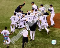 Tampa Bay Rays celebrate Game 7 of the 2008 ALCS Fine-Art Print