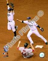 Akinori Iwamura & Jason Bartlett celebrate the final out Game 7 of the 2008 ALCS Fine-Art Print