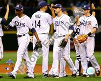 The Tampa Bay Rays Celebrate Game two of the 2008 MLB World Series Fine-Art Print