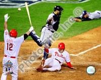 Eric Bruntlett Game three of the 2008 MLB World Series Game Winning Run Fine-Art Print