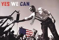 Barack Obama:  Yes We Can (crowd) Fine-Art Print