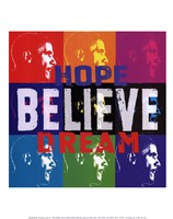 Barack Obama: Hope, Believe, Dream Fine-Art Print