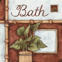 Bath (over a green plant) Fine-Art Print