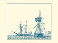 Sailing Ships in Blue IV Fine-Art Print