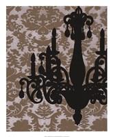 Chandelier Silhouette I Fine-Art Print
