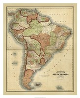 Antique Map of South America Fine-Art Print