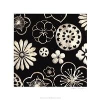 Silver Floral Cascade III Fine-Art Print