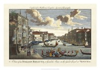 Venice Canal and Gondola Race Fine-Art Print