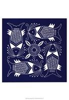 Chinese Indigo Fish IV Fine-Art Print