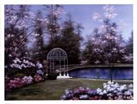 Lakeside Gazebo Fine-Art Print
