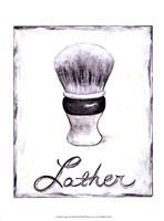 Lather Framed Print