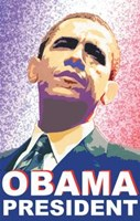 Barack Obama - (President) Campaign Poster Fine-Art Print