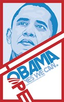 Barack Obama - (Hope, Red) Campaign Poster Wall Poster