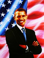Barack Obama - painting Fine-Art Print