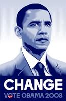 Barack Obama - (Change) Campaign Poster Wall Poster