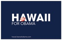 Barack Obama - (Hawaii for Obama) Campaign Poster Wall Poster