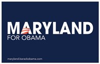 Barack Obama - (Maryland for Obama) Campaign Poster Wall Poster