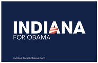 Barack Obama - (Indiana for Obama) Campaign Poster Wall Poster