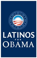 Barack Obama - (Latinos for Obama) Campaign Poster Wall Poster