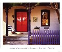 Purple Picket Fence Fine-Art Print