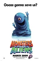 Monsters vs. Aliens, c.2009 - style C Wall Poster