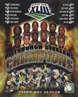 Pittsburgh Steelers 2009 SuperBowl XLIII Champions Composite Fine-Art Print