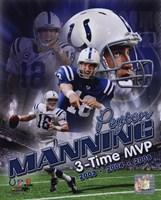 Peyton Manning 3 X MVP Portrait Plus Fine-Art Print